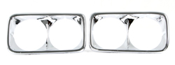 Headlamp Bezels - Chrome - LH/RH Pair