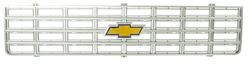 Grille w/ Emblem - Silver - 75-76 Chevy C/K Truck