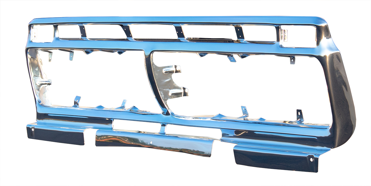 Grille Shell - Anodized Aluminum - 73-77 Ford F100