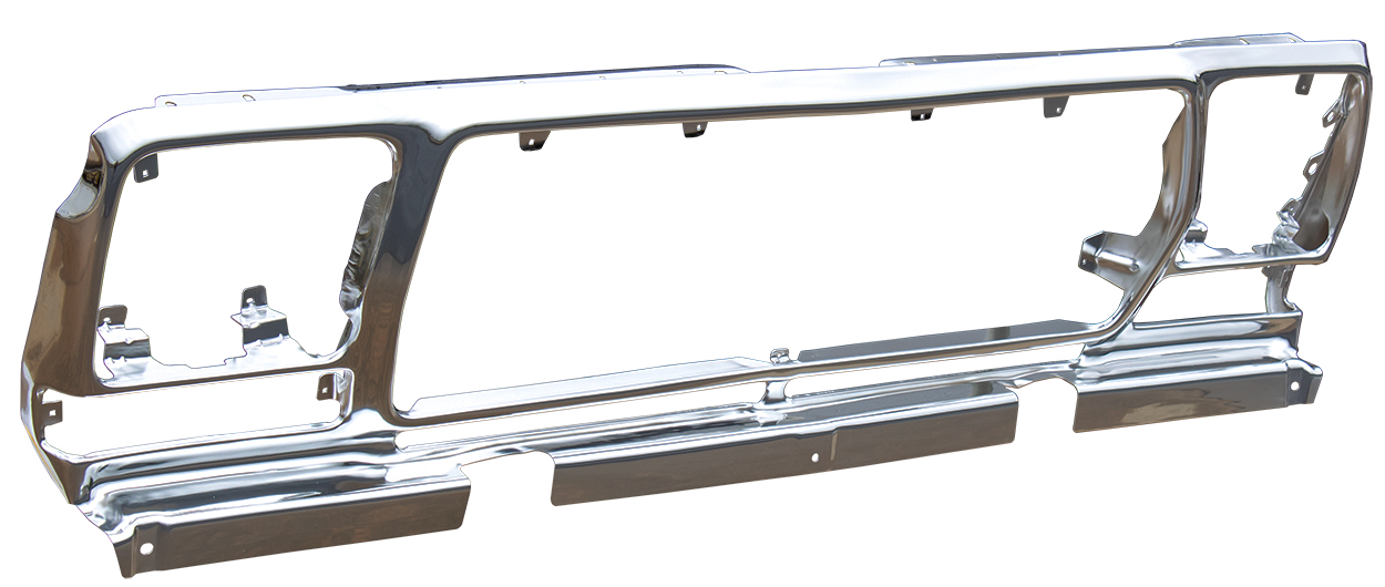 Grille Shell - Anodized Aluminum - 78-79 Ford F100; F150; F250; Bronco
