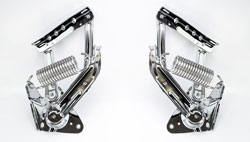Chrome Hood Hinges w/ Stainless Springs - LH/RH Pair