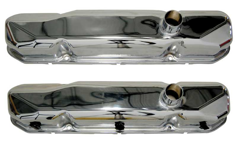 64-65 Mopar Valve Cover BB PR chrome VALVE COVERS ONLY