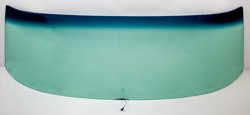 Windshield with Antenna - Green Tint - 70-72 GM A-Body Convertible