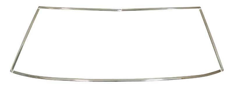 1968-76 Dodge Dart 2dr Hdtp, 1971-76 Plymouth Valiant/Scamp 2dr Hdtp, and 68-69 Barracuda Windshield Molding (5 pcs)