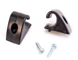 Sun Visor Retainer Clips - LH/RH Pair - Black