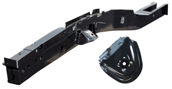 Frame Rail with Shock Tower - Front - LH - 66-70 B-Body