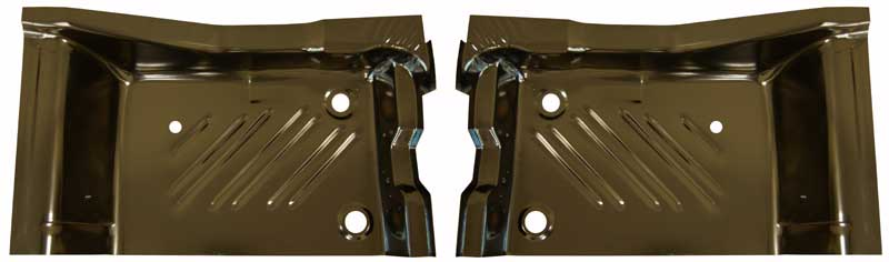 Rear Footwell Area Floor Pans - Pair - 71-74 Barracuda