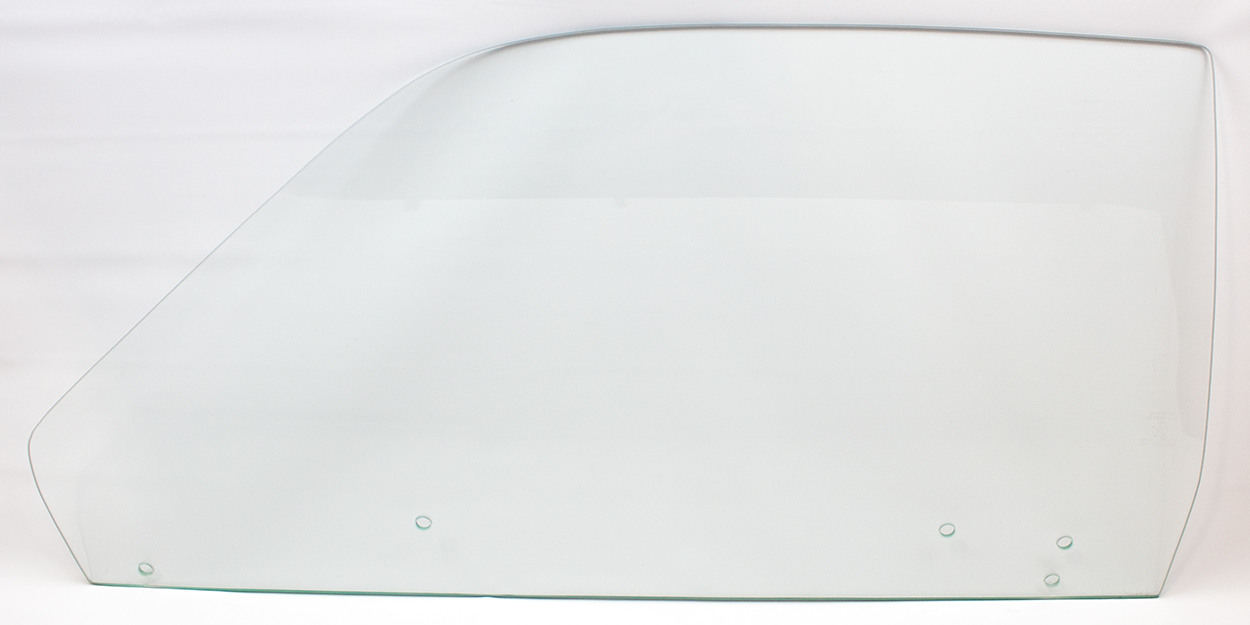 73-74 Duster/Dart Sport Door Glass LH Clear (5 Hole)