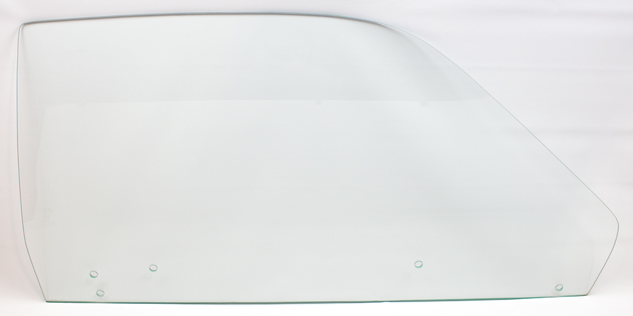 73-74 Duster/Dart Sport Door Glass Right Clear (5 Hole)