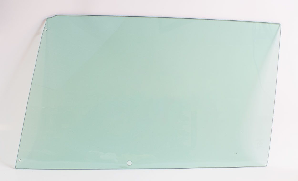Door Glass - Green Tint - LH - 67 Dodge Plymouth B-Body 2DR Hardtop & Convertible