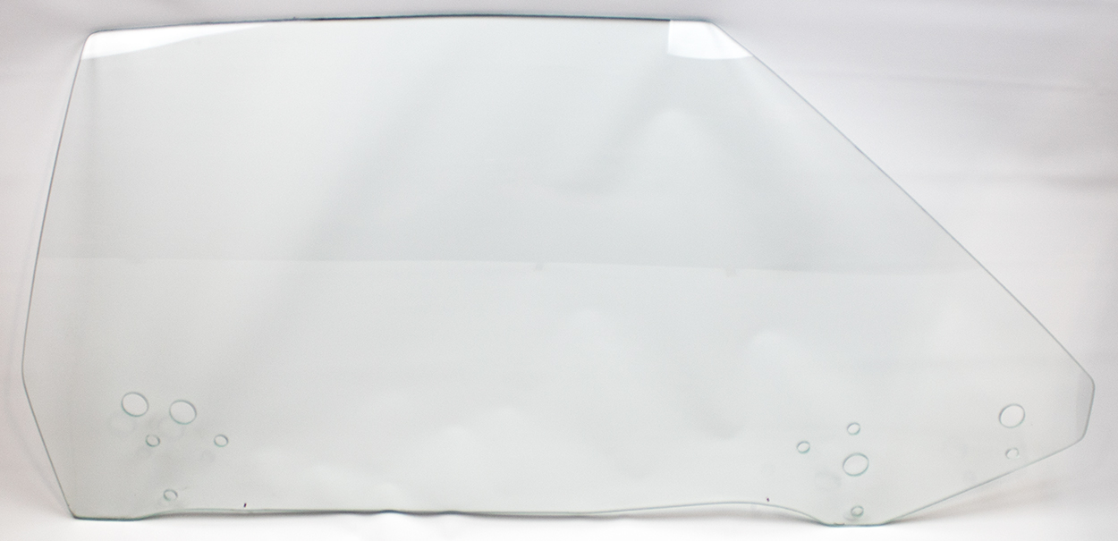 70-71 E-body Door Glass Right Hand Clear - Convertible