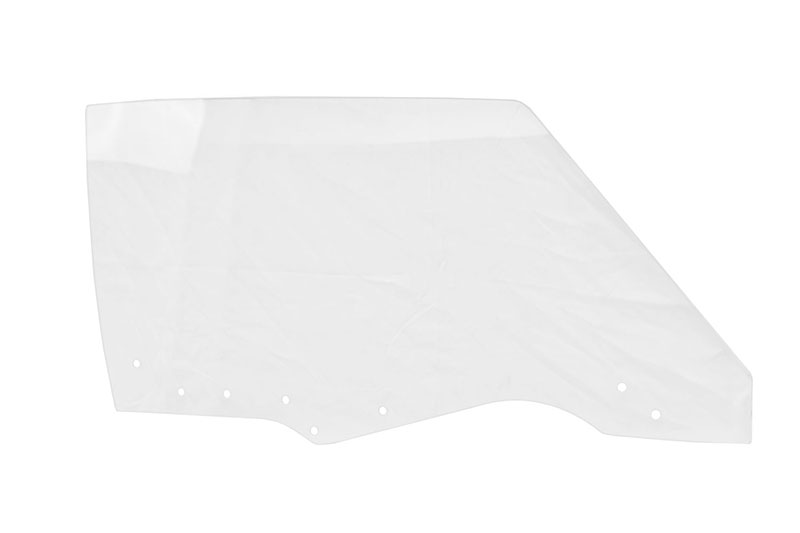 Door Glass w/ 8 Holes - Clear - RH - 70-72 GM A-Body Coupe & Convertible; 70-72 Grand Prix
