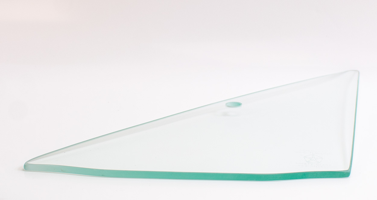 Vent Glass - Clear - LH - 66-67 Dodge Plymouth B-Body 2DR Hardtop, Convertible, 2/4DR Sedan & Wagon