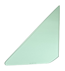 Vent Glass - Green Tint - LH - 64-65 GM A-Body; 66-67 Chevelle 2/4DR Sedan (Post)