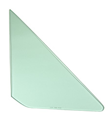 Vent Glass - Green Tint - RH - 64-65 GM A-Body; 66-67 Chevelle 2/4DR Sedan (Post)