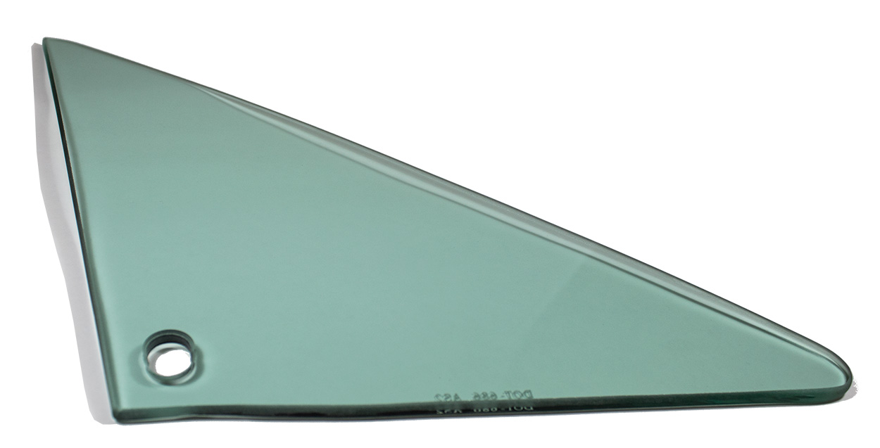 Vent Glass - Green Tint - RH - 66-67 GM A-Body Coupe & Convertible