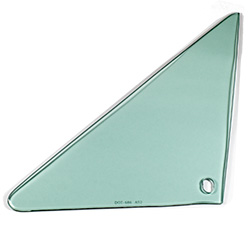 Vent Glass - Green Tint - LH - 66-67 GM A-Body Coupe & Convertible