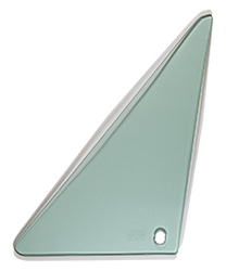 Vent Glass - Green Tint - LH - 67 Camaro Firebird