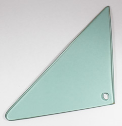 Vent Glass - Green Tint - LH - 66-67 BOP A-Body Sedan (Post)