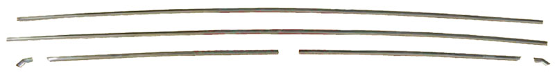 67-69 Barracuda Fastback Drip Rail Mldg 6 pc Set