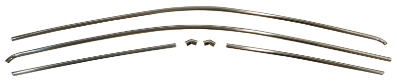 67-69 Barracuda Coupe Notchback Drip Rail Mldg 6 pc Set