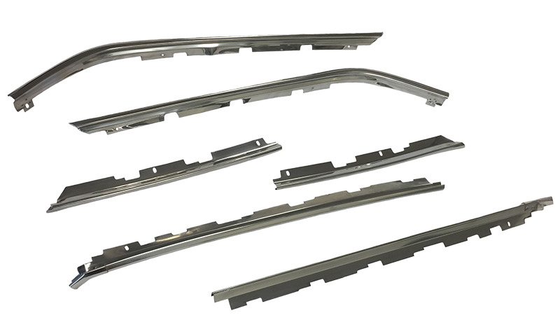 70-74 Barracuda Drip Rail Molding Set (4pcs)