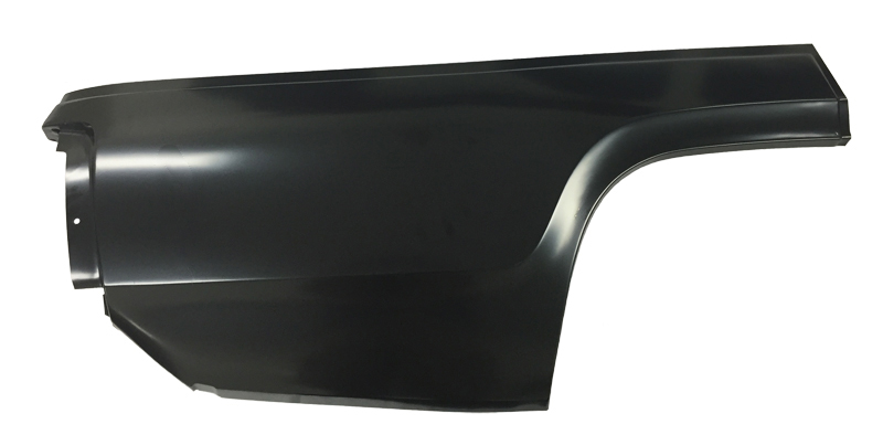 71-72 Plymouth B Body Quarter Panel Patch Lower Rear (without Marker Light Hole) RH