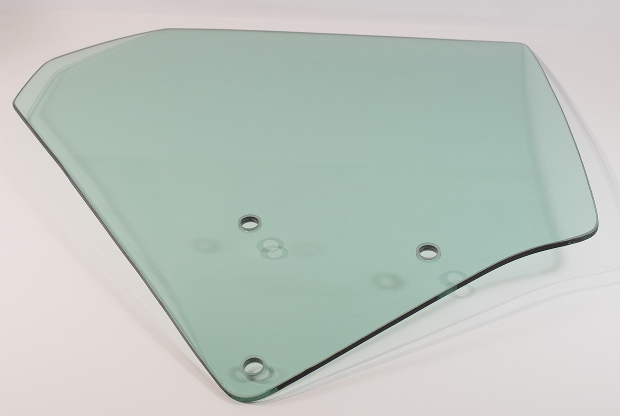 Quarter Glass - Green Tint - RH - 73-74 Plymouth B-Body 2DR Hardtop