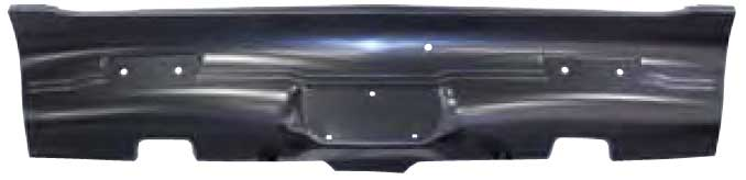 Rear Valance with Exhaust Tip Cutouts - 68-69 Barracuda