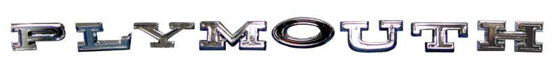 "Taillight Panel Emblem - ""Plymouth\"" - 70 Plymouth B-Body"