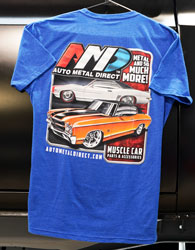 AMD GM Car T-Shirt - Large - Royal Blue