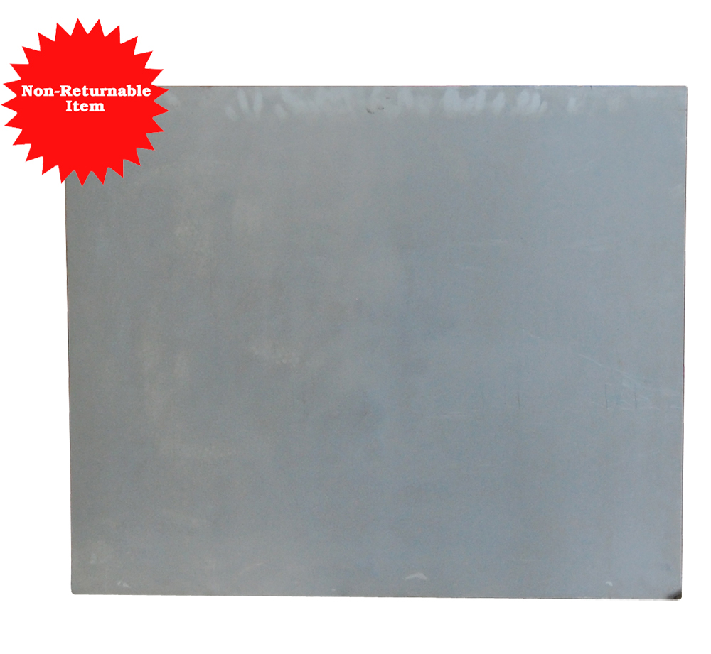 "Uncoated Steel Patch - 36"" X 43\"" .036 or 20 Gauge *Non-Returnable*"