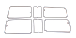 Taillight Gaskets - 71 Dodge Charger; SE; Super Bee (w/o louvered taillights)