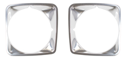 Headlight Bezels - Pair - 69-72 Chevy Tuck Blazer Suburban