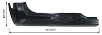 Outer Rocker Panel - 3rd Door - RH - 96-99 Chevy GMC C/K Pickup Extended Cab