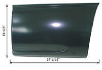 Front Lower Bed Panel - LH - 99-07 Chevy GMC Silverado Sierra Fleetside Short Bed