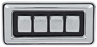 Power Window Switch - 77-78 B-Body Dodge Plymouth - 4 Button - Convex Button