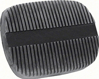 62-67 Nova Brake/Clutch Pedal Pad, Vertical Ribs