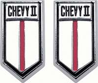 "Door Panel Emblem - ""Chevy II"" - LH/RH Pair - 66-67 Chevy II Nova"
