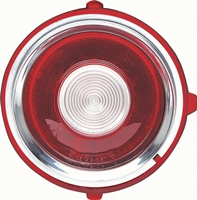 70-71 (early 71) Camaro Standard Backup Lamp Lens with Circular Optics, LH