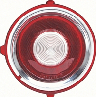 70-71 (early 71) Camaro Standard Backup Lamp Lens with Circular Optics, RH