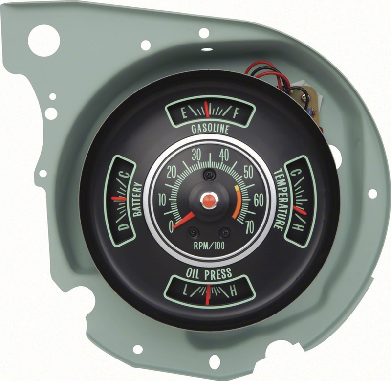 69 Chevelle El Camino Tachometer/Gauge Cluster with 5500 RPM Redline