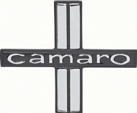 "Door Panel Emblems - ""Camaro"" for Deluxe Interior - LH/RH Pair - 67 Camaro"