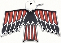Door Panel Emblem - Bird Logo for Deluxe Interior - LR or RH (Sold Each) - 68-69 Firebird