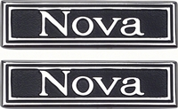 "Door Panel Emblems - ""Nova"" - LH/RH Pair - 69-72 Nova"