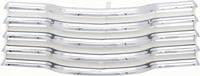 Grille Assembly - Chrome with White Brackets - 47-53 Chevy Truck