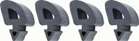 67-72 Chevy GMC Truck Hood Side Rubber Stopper Set