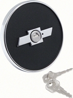 Gas Cap - Locking with Bowtie Logo- 67-68 Camaro