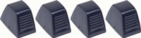 Temperature Control Knobs- Black - 4 Piece Set - 64-72 Chevelle El Camino; 67-81 Camaro Firebird