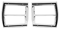 69 Dart Tail Lamp Bezels (Sold as a Pair)